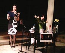 Мария Сириус на презентации своей книги
